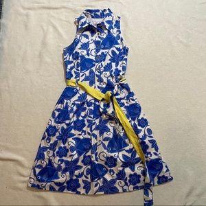 Lily pulitzer blue and white sleeveless dress 4
